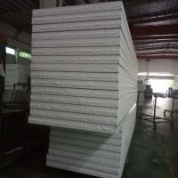 Buy cheap grey white EPS sandwich waterproof wall panels 1150-100-0.376mm for prefab buildings from wholesalers