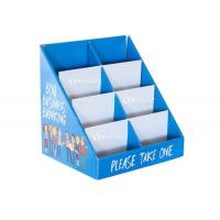 Buy cheap Business Cards Cardboard Point Of Sale Counter Display With Pockets from wholesalers