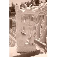 Buy cheap boy and girl swing marble sculpture from wholesalers
