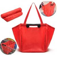 Buy cheap Reusable Large Grocery Supermarket Grab Tote Shopping Cart Bag with Cart Clip grocery foldable  trolley shopping bags from wholesalers