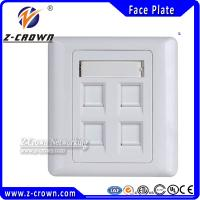 Buy cheap RJ45 Faceplate 86*86type 1port 2port 4port from wholesalers