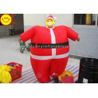 Buy cheap Nylon Lightweight Advertising Costumes , Red Inflatable Santa Costume With Fabric Material from wholesalers
