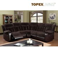 Buy cheap Fabric Cushion Leather Transitional Brown sectional Recliner Sofa Set,Living Room Sofas.Comfortable & Relax Sofas from wholesalers
