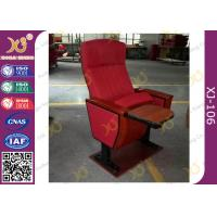 Buy cheap Mounted Floor Walnut Wood Colour Fabric Public School Auditorium Chairs from wholesalers