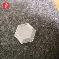 Buy cheap China factory custom 5mm beveled tempered glass polished hexagon shape from wholesalers