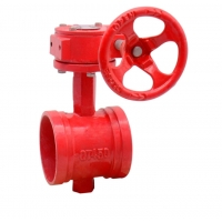 Buy cheap Rubber Seated DN1200 150Lbs Grooved Ends Ductile Iron Butterfly Valves from wholesalers