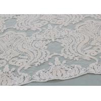 Buy cheap Ivory Sequin Lace Fabrics , Embroidered Bridal Lace Fabrics For Wedding Dresses product