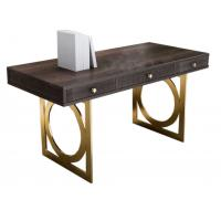 Buy cheap XT-8902 Light luxury stainless steel furniture study room desk with Solid wood bookcase cabinets from wholesalers