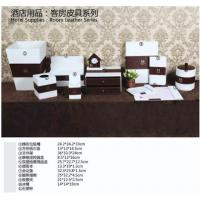 Buy cheap PVC lather desk sets in hotel and office from wholesalers