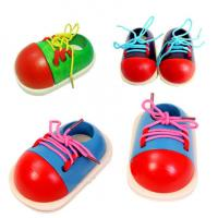 Buy cheap Educational wooden lacing baby learn wear a shoelace preschool education practice and bow from wholesalers