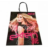Buy cheap Printed Shopping Bags  With Long Handles For Hair Extension Packaging from wholesalers