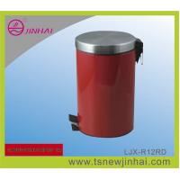 Buy cheap 12L Stainless Steel Red Food Pedal Bin from wholesalers