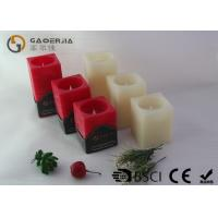 Buy cheap Square Wax Flameless Led Candles Red / Ivory Color For Holiday from wholesalers