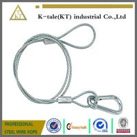 Buy cheap high strength 5/8 galvanzied steel  Wire Rope Sling with Eye & Eyeand  hook for lift LED light from wholesalers