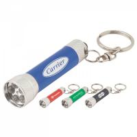 Buy cheap Multi Color Aluminum LED Flashlight Keychains 4pcs x LR41 Battery As Gift product