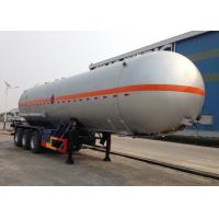Buy cheap Carbon Steel 3 Axles LPG Tank Trailer 38000L For Liquid Chloroethylene Transport from wholesalers