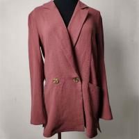 Buy cheap Double - Breasted Casual Cotton Blazer Womens Casual Office Blazer product