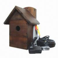 Buy cheap Wooden Bird House with Built-in CMOS Camera, Display Real-time Picture with Sound, Waterproof Roof from wholesalers