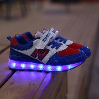 Buy cheap fashion new style children led shoes sport brand name high quality, eight color led light kids shoes for boys girls from wholesalers