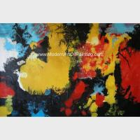 Buy cheap Abstract Acrylic Painting The Fire / Contemporary Canvas Wall Art Framed On Canvas from wholesalers