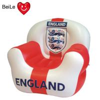 Buy cheap Football team sign printed inflatable sofa for World Cup fans from wholesalers