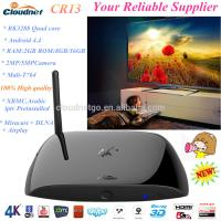 Buy cheap Built in XBMC 14.0 RK3288 quad core CR13 3D blue-ray android 4.4 media player 2G/16G With  Camera TF card HDMI Tv Box from wholesalers
