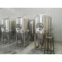 Buy cheap Side manhole 3 bar pressure vessels 1000L Conical beer fermenter from wholesalers
