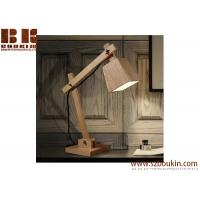 Buy cheap 3d modern fashionable wood led table lamp for warm light bedside lamp from wholesalers
