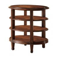 Buy cheap Modern Rubber Wood Square Round Coffee Table Three Tiered OEM & ODM from wholesalers