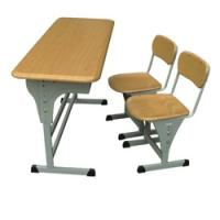 Buy cheap metal school furniture student double desk and chair from wholesalers
