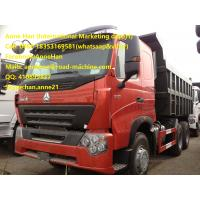 Buy cheap 2017 New Sinotruk HowoA7 Dump Tipper Truck High Fuel Efficiency 30 - 40 Tons 6x4 10 tires with 1 spare from wholesalers