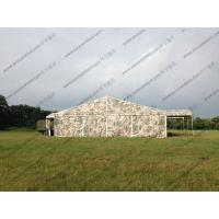Buy cheap Camouflage Roof Cover Military Surplus Canvas Tent Aluminum Structure For Army Training Base from wholesalers