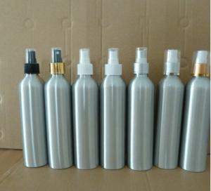 Buy cheap 300ml aluminium bottles with hot stamping caps, plastic spray pump aluminium bottles product