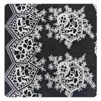 Buy cheap Beautiful Black Floral Polyester Cotton Lace Fabric , Fashion Swiss Lace Fabric from wholesalers