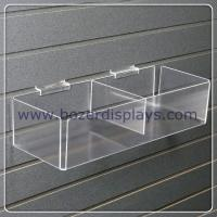 Buy cheap Clear Acrylic Slatwall Bin with Two Bins for Document Display from wholesalers