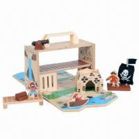 China Wooden portable play set, ultimate travel companion for kids, unique wooden toys on sale