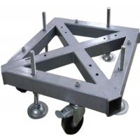 Buy cheap Custom Welding Fabrication 290*290mm Spigot Square Truss Steel Base With Wheel from wholesalers