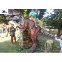 Buy cheap Life Size Riding Dinosaur For Kids , Animatronic Kids Ride On Dinosaur  from wholesalers