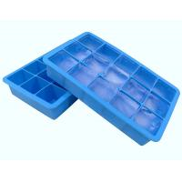 Buy cheap Fancy 15 Cavity Silicone Chocolate Molds , Easy Make Large Square Ice Cube Tray from wholesalers