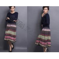 Buy cheap Colorful Comfortable Ladies WoolSkirt Retro Casual With Breathable from wholesalers