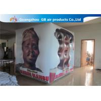 Buy cheap Fireproof White Cube Inflatable Helium Balloons PVC Material Full Digital Printing product