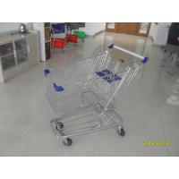 Buy cheap Low Tray 100L Supermarket Shopping Trolley European Steel With Blue Baby Seat from wholesalers