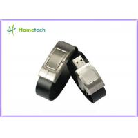 Buy cheap Leather wristband personalized 32gb usb 2.0 flash drive 10-22mb / s Speed from wholesalers