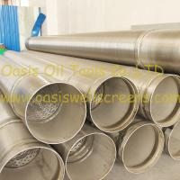 Buy cheap Stainless steel 316L pipe base screen pipe/johnson screens/water well screens from Wholesalers