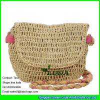 Buy cheap LUDA natural magnetic paper straw crochet mini crossbody bag from wholesalers
