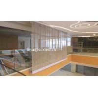 China Full Color P10.42mm Led Transparent Video Glass Wall Screen Over Than 4200 Brightness on sale