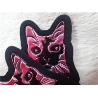 Buy cheap Durable Embossed Leather Patches Red TPU Logo / Leather Clothing Labels from wholesalers
