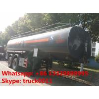 Buy cheap 2 axles 25cubic meters chemical tank trailer for sale,2017s factory sale best price 25,000Liters chemical tank trailer from wholesalers