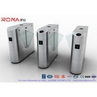 Quality RS485 Retractable Acrylic Flap Half Height Turnstiles For Pedestrian Access for sale