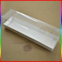 Buy cheap transparent PVC cupcake box with paper holder, bread plastic box product